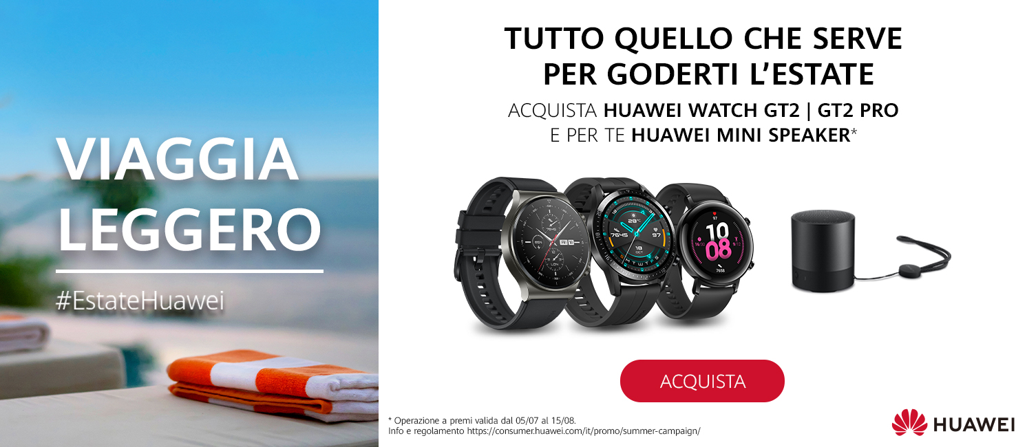 Promo: Viaggia leggero con Huawei