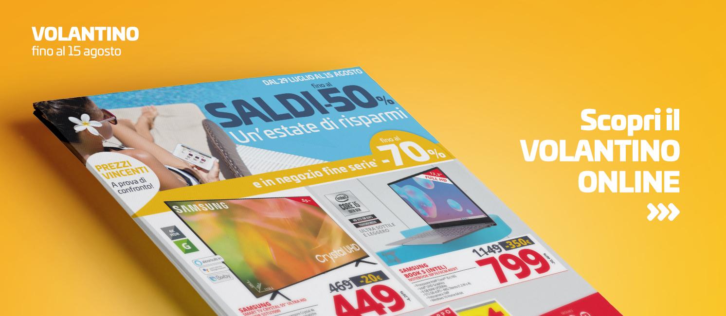 """Promo: Volantino """"SALDI FINO AL -50%"""""""