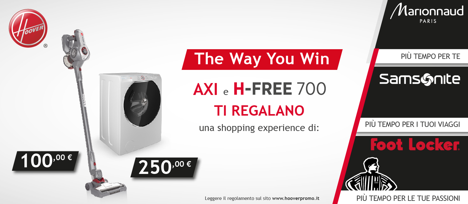 Promo: Axi e H-Free 700 : the way you win!