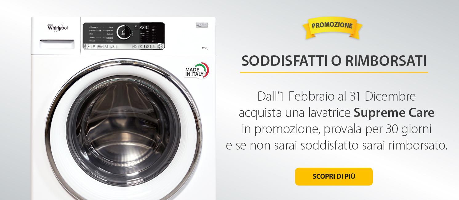 Promo: Whirlpool Soddisfatti o Rimborsati