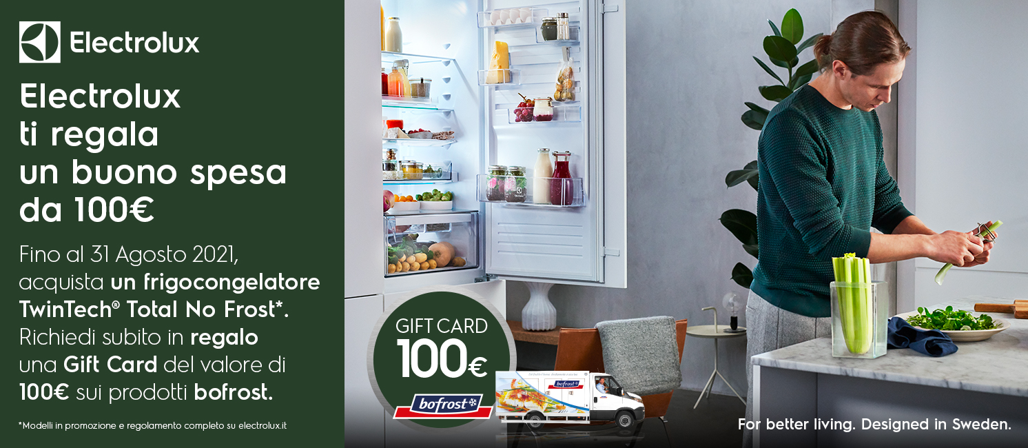 Promo: Electrolux ti regala un buono spesa bofrost!
