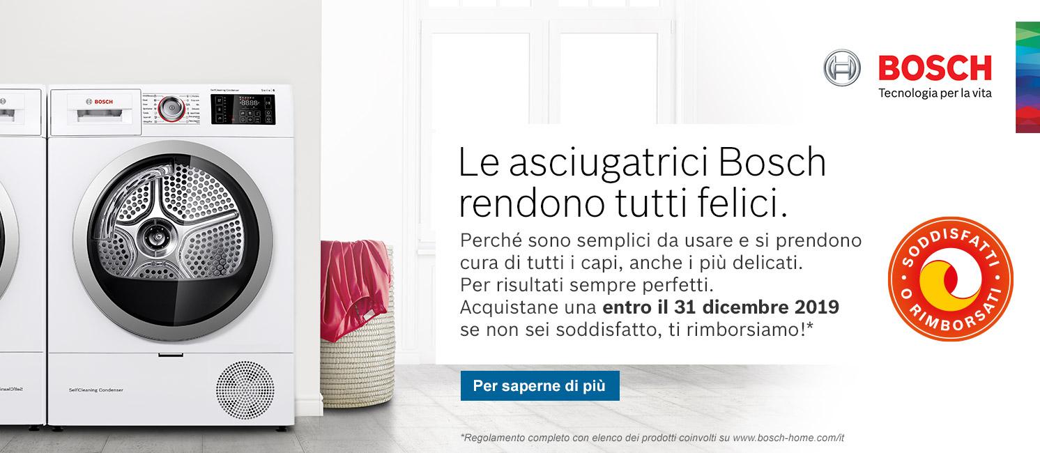 Promo: Bosch Soddisfatti o rimborsati