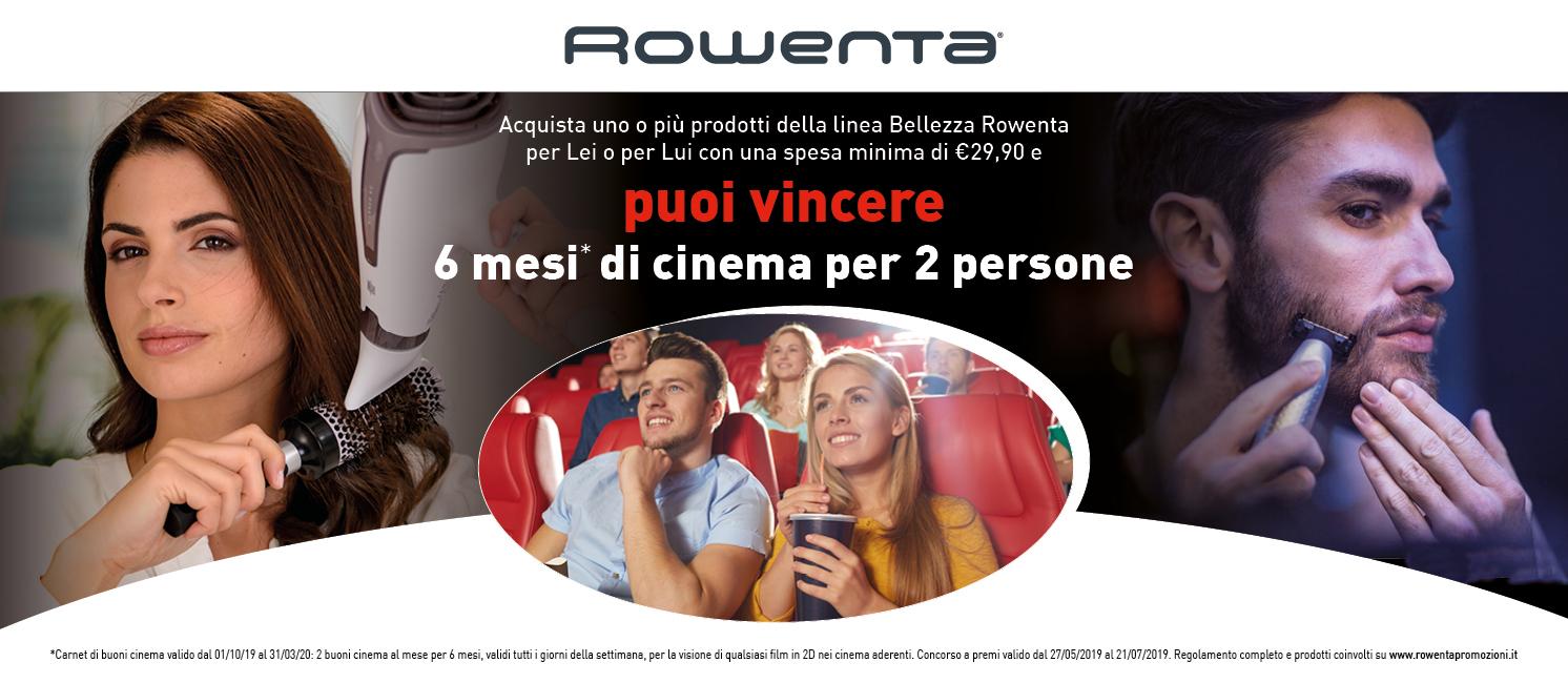 Promo: Rowenta ti regala il Cinema