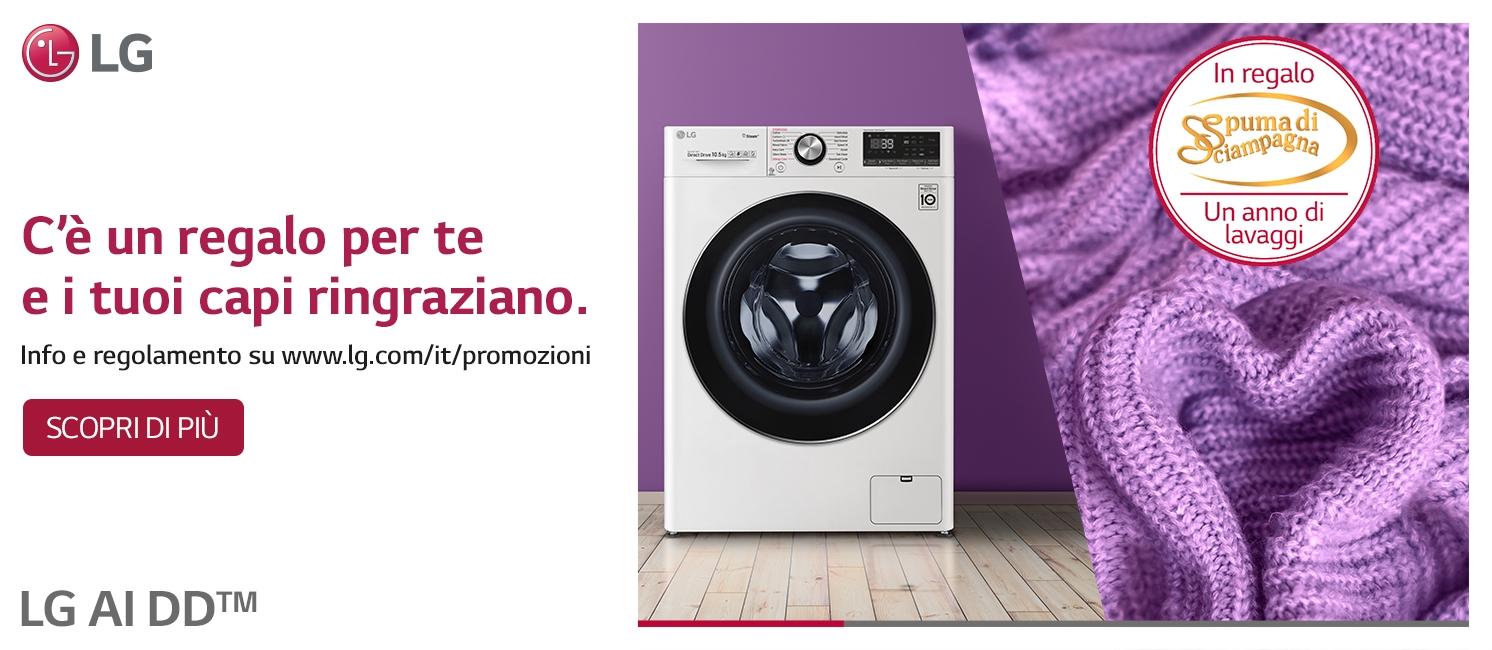 Promo: Lg ti regala un anno di bucato
