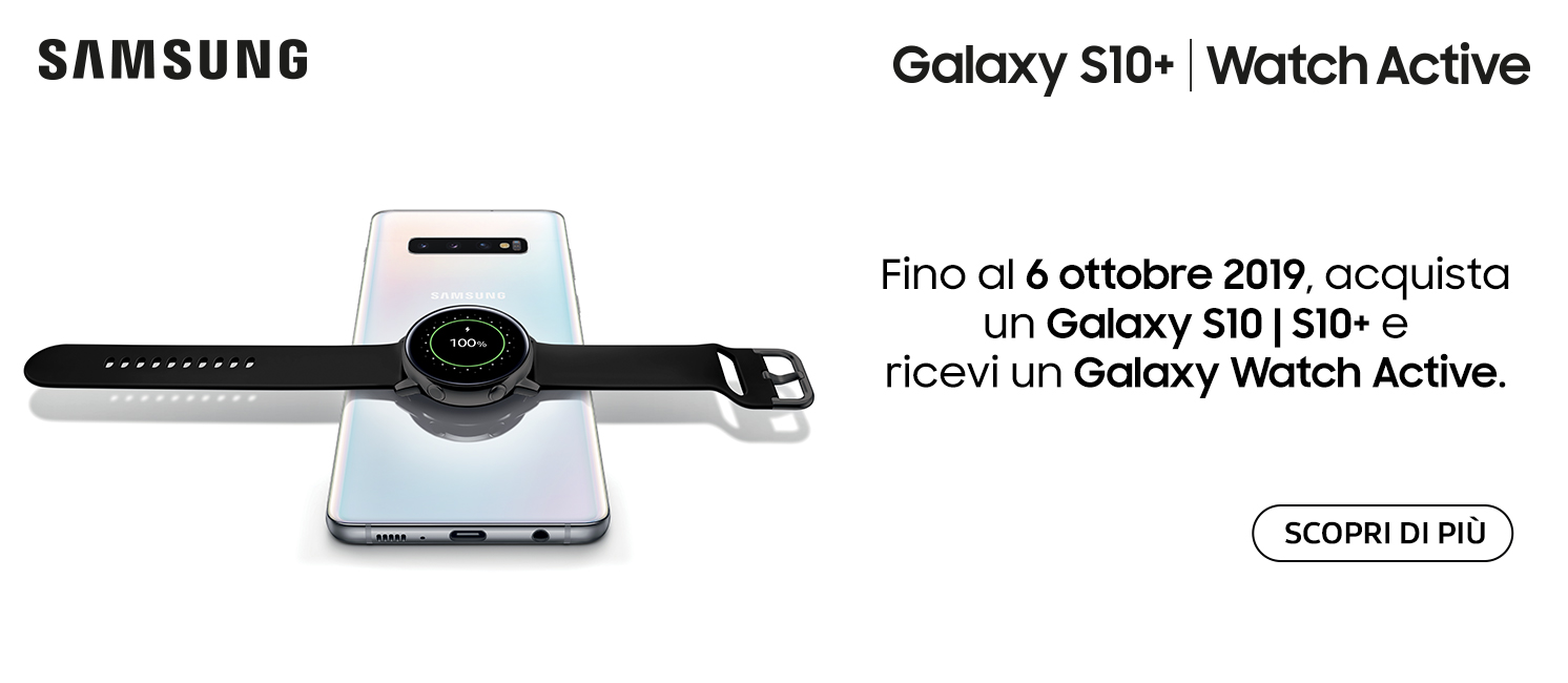 Promo: Samsung Galaxy S10 ti regala Galaxy Watch Active