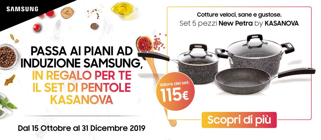 Promo: Samsung: cucina con Kasanova