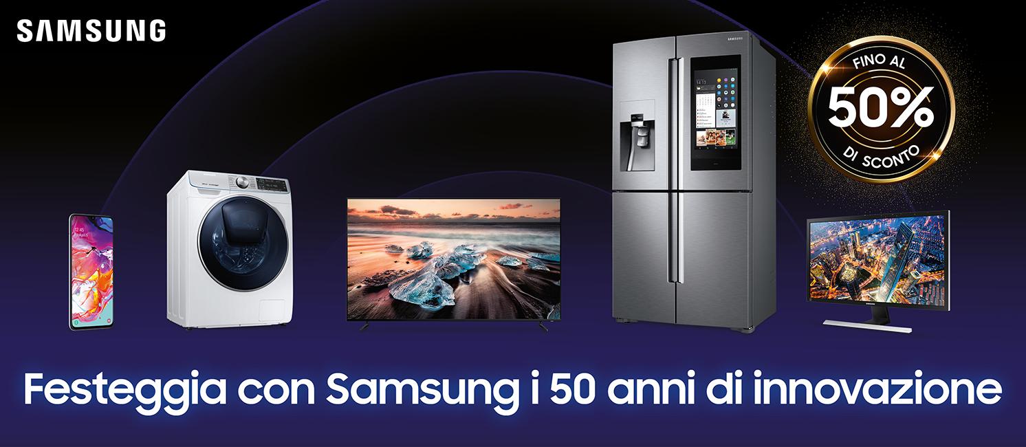 Promo: Festeggia con Samsung i 50 anni di innovazione