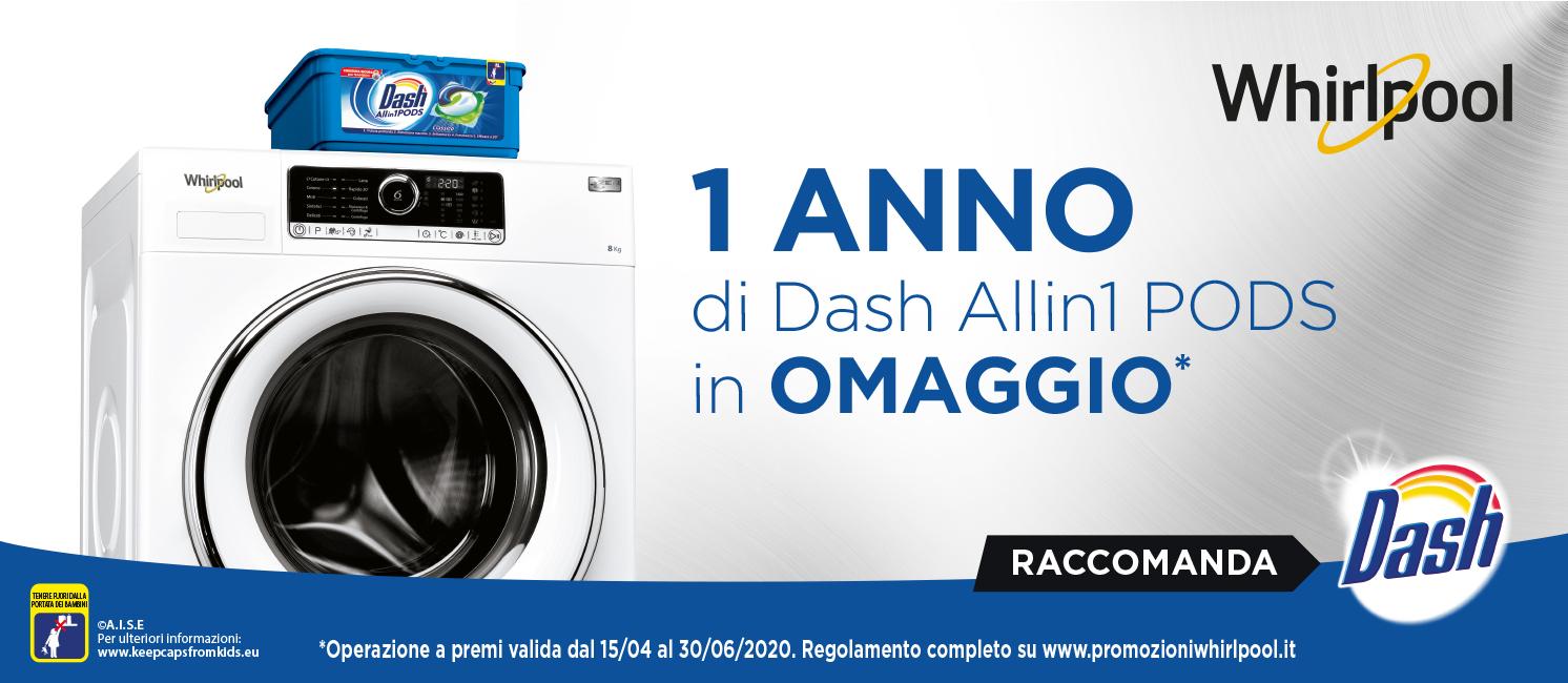 Promo: Whirlpool regala un anno di Dash!