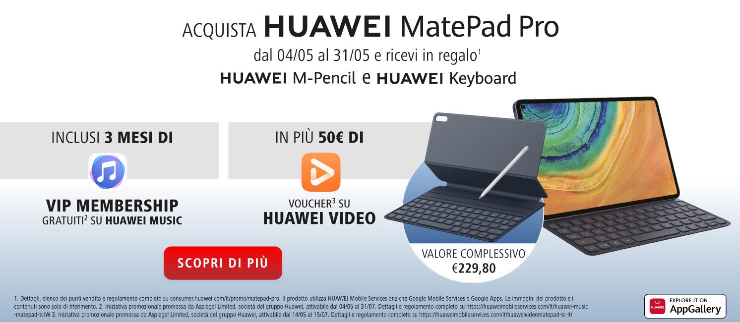 Promo: Nuovo Huawei MatePad Pro