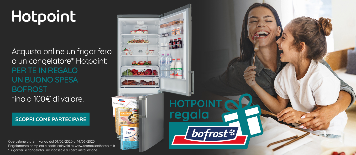 Promo: Hotpoint ti regala BoFrost!