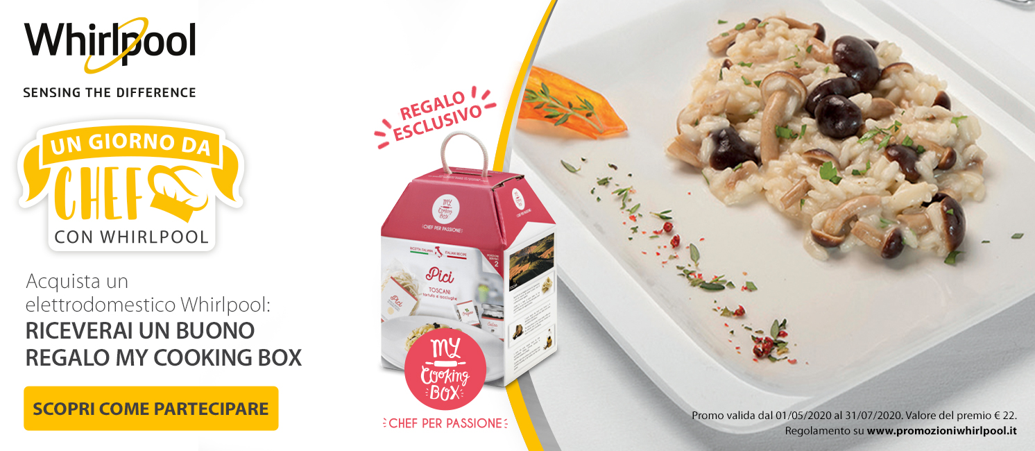 Promo: Whirlpool ti regala My Cooking Box