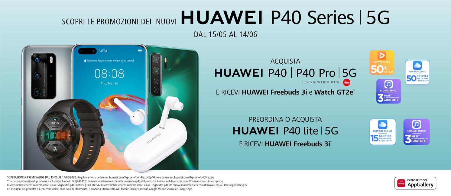 Promo: Nuovi Huawei P40 Series 5G