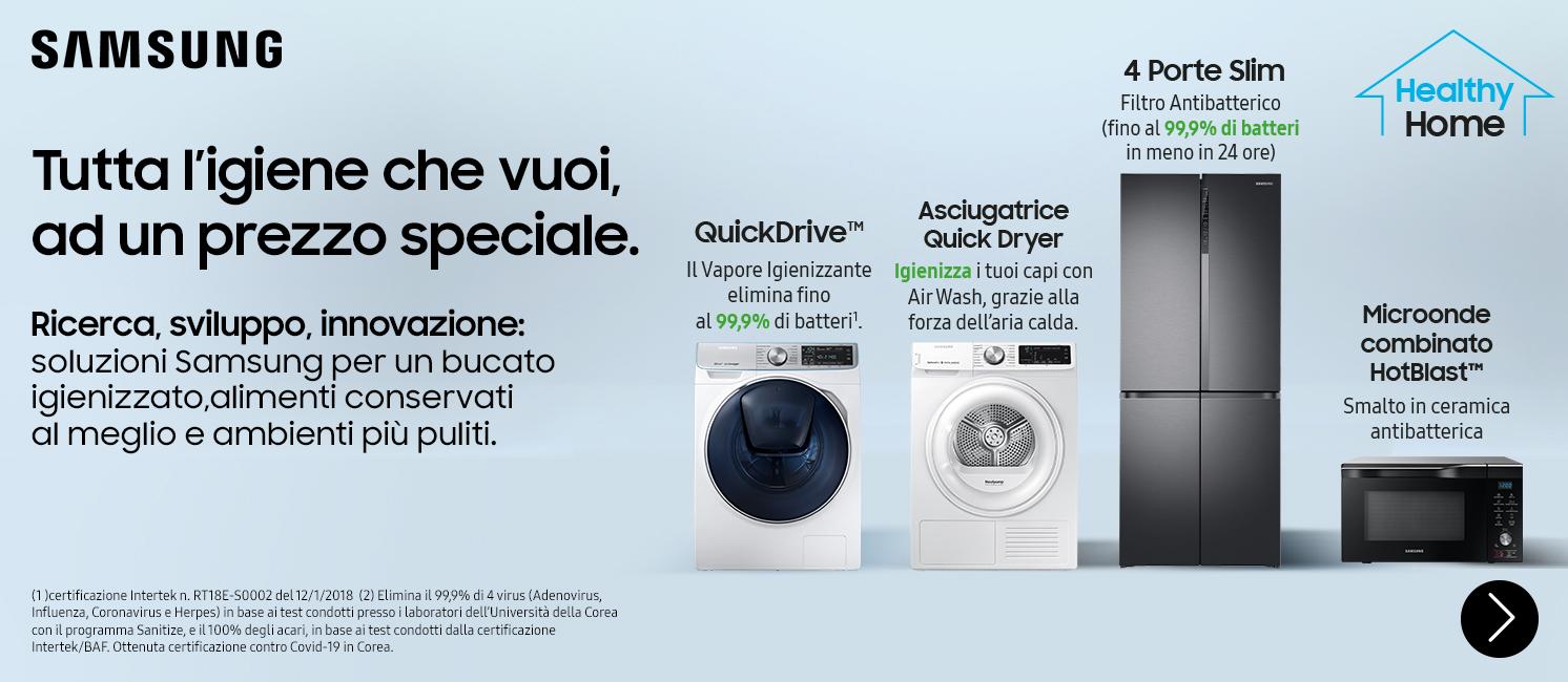 Promo: SAMSUNG: tutta l'igiene che vuoi, ad un prezzo speciale