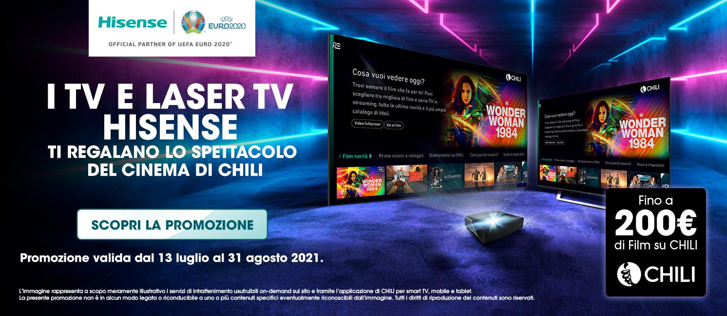Promo: I TV e Laser TV Hisense ti regalano lo spettacolo del cinema di Chili