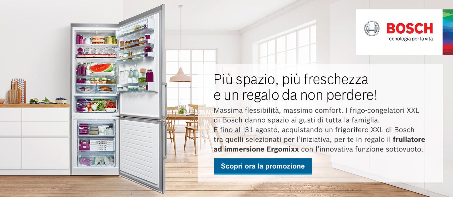 Promo: I Frigoriferi Bosch XXL ti regalano il frullatore ad immersione Ergomixx