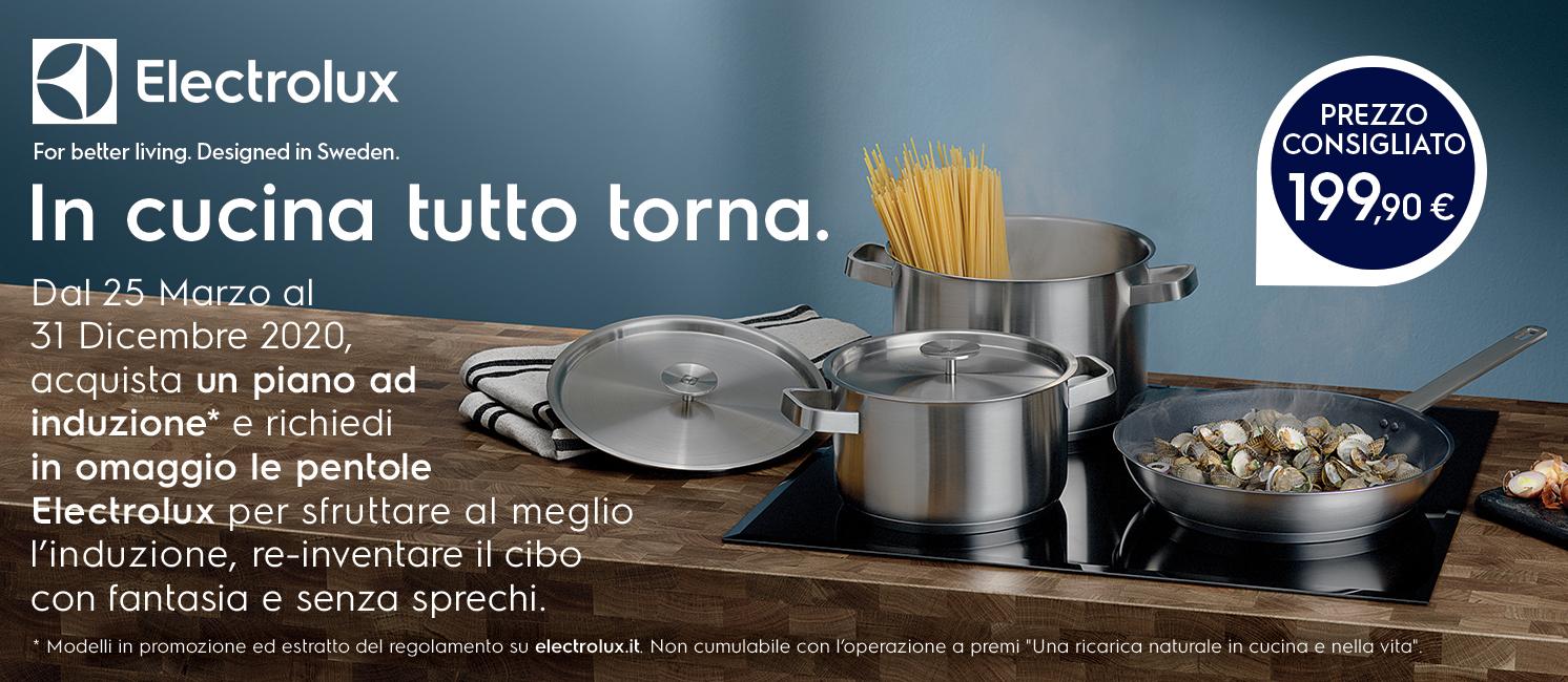 Promo: Piani ad induzione Electrolux: in cucina tutto torna