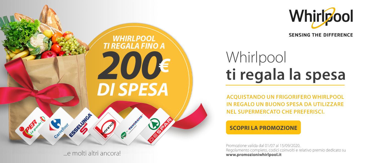 Promo: Whirlpool ti regala la spesa