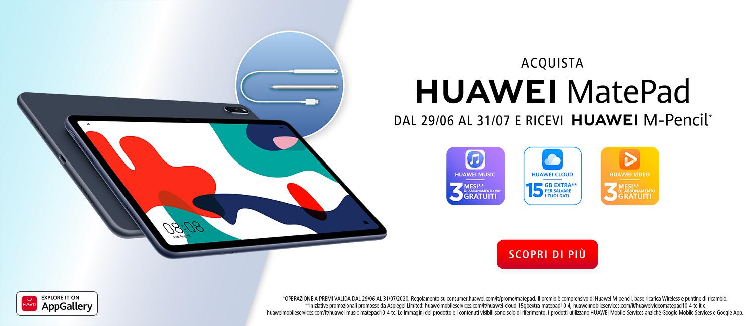 Promo: Nuovo Huawei MatePad 10.4