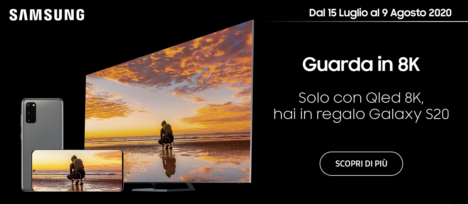 Promo: Samsung TV Qled 8K ti regala Galaxy S20
