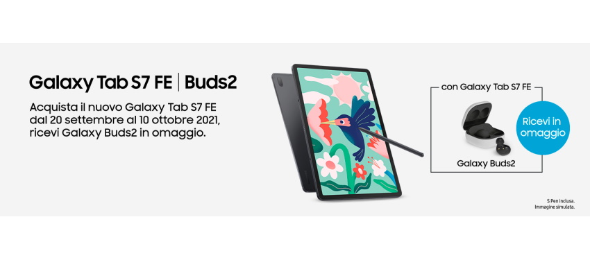 Promo: Nuovo Samsung Galaxy Tab S7