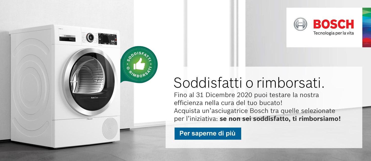 Promo: Asciugatrici Bosch: soddisfatti o rimborsati