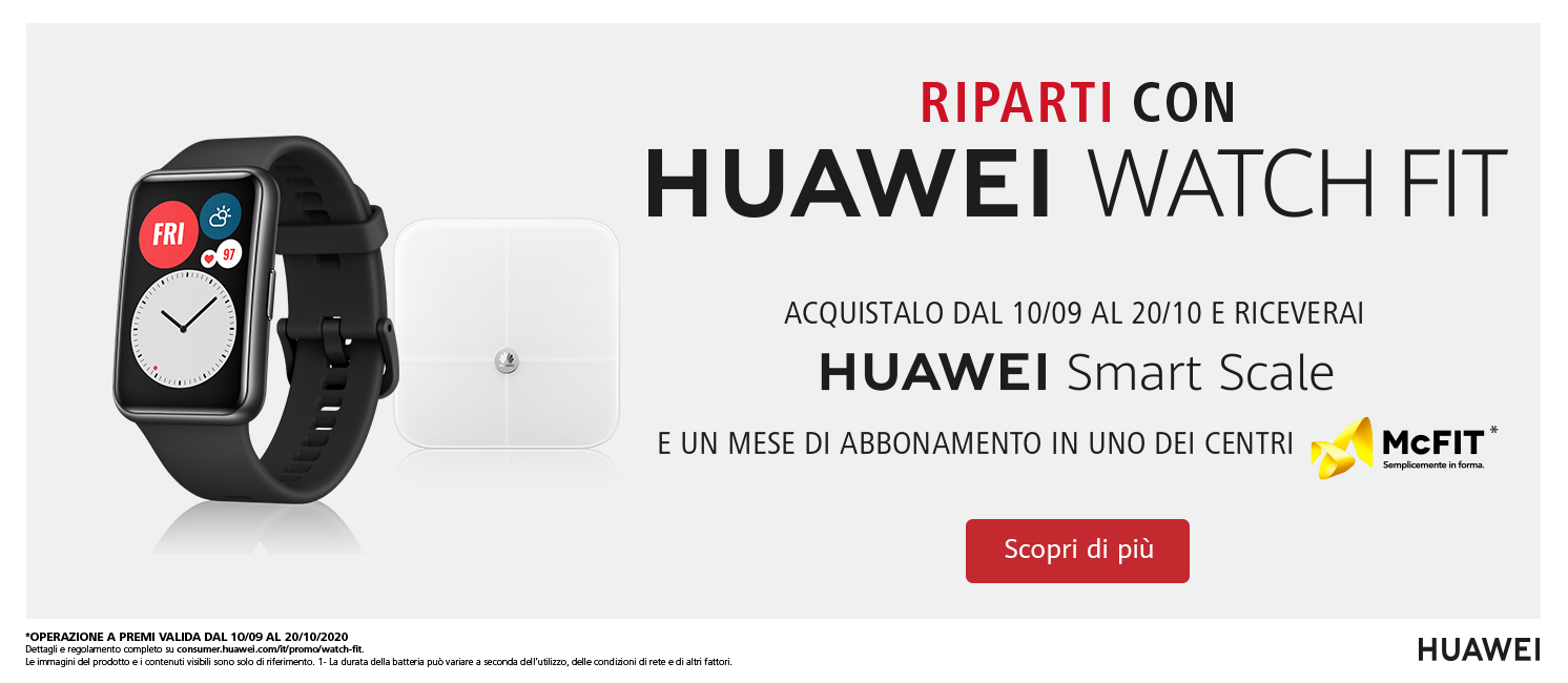 Promo: Riparti con Huawei Watch Fit