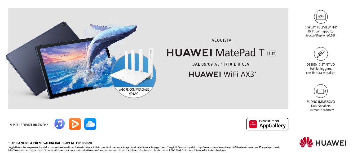 Promo: Nuovo Huawei MatePad T10s