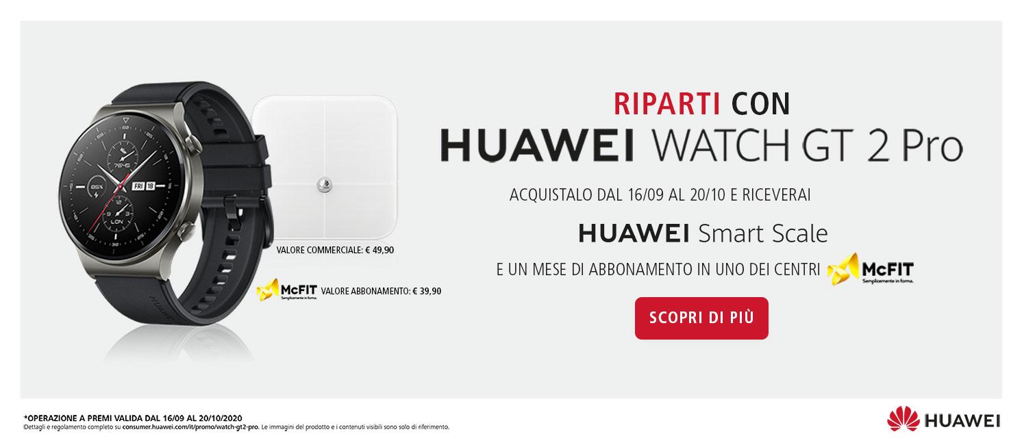 Promo: Riparti con Huawei Watch GT 2 Pro