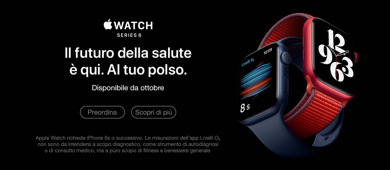 Promo: Nuovo Apple Watch 6