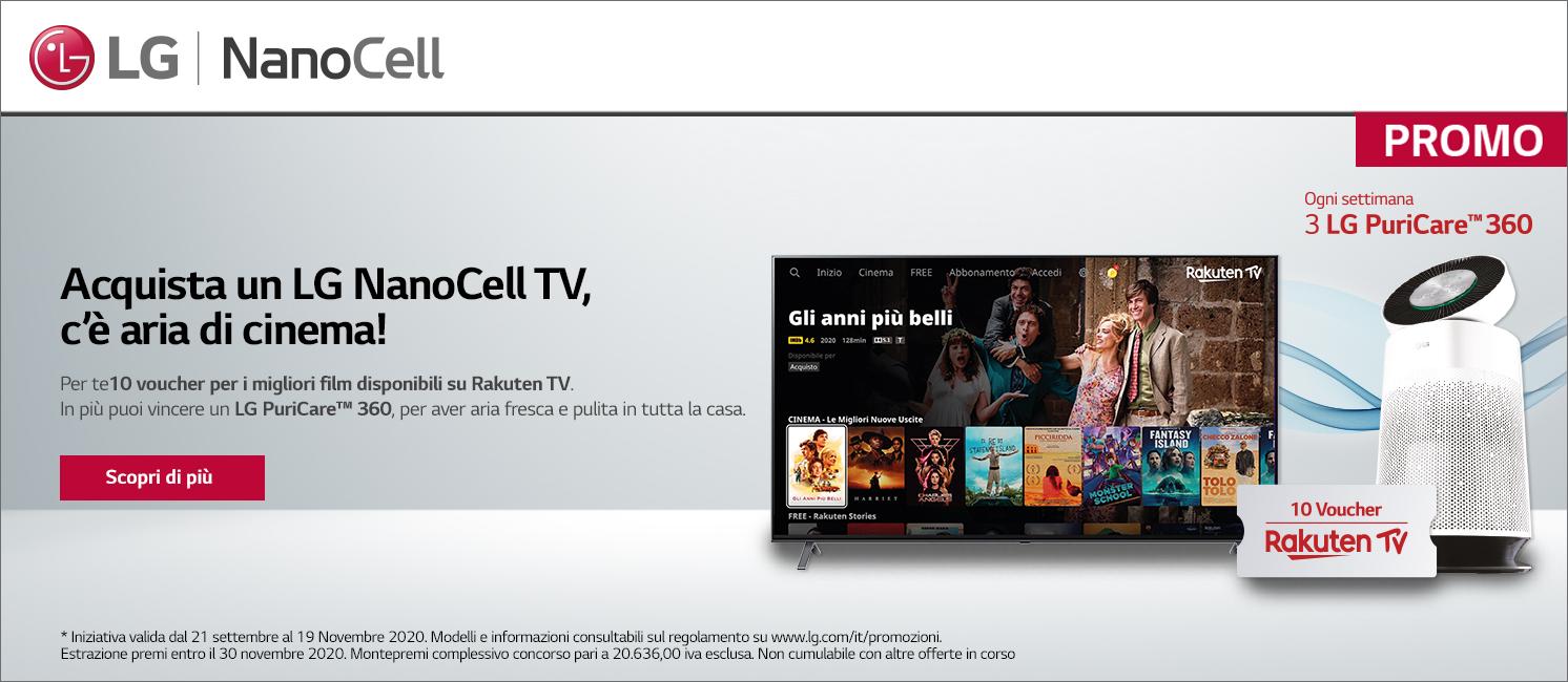 Promo: LG NanoCell TV regala Rakuten