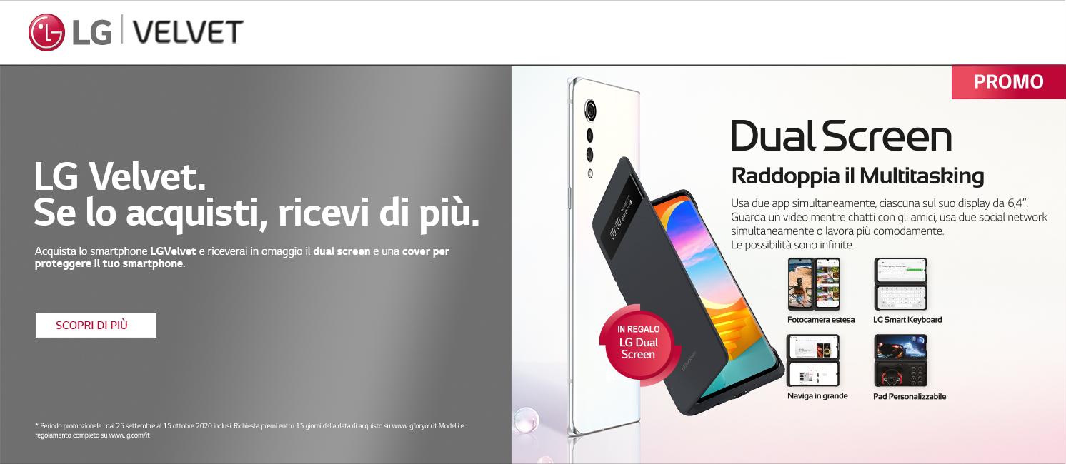 Promo: LG Velvet. Se lo acquisti, ricevi di più.