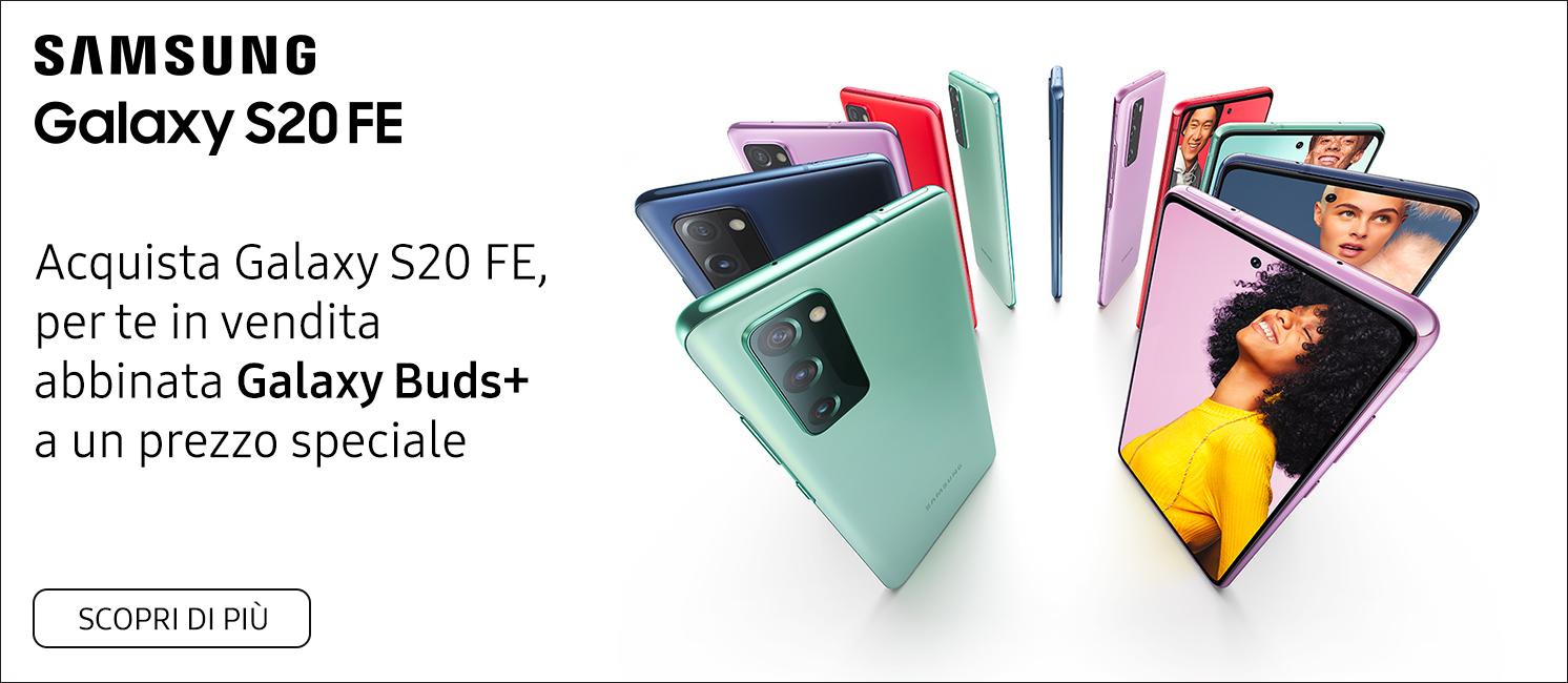 Promo: Samsung Galaxy S20 FE con Galaxy Buds +