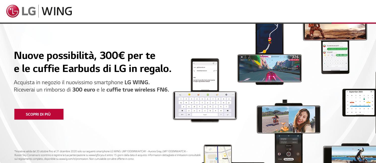 Promo: Scopri il nuovo LG Wing!