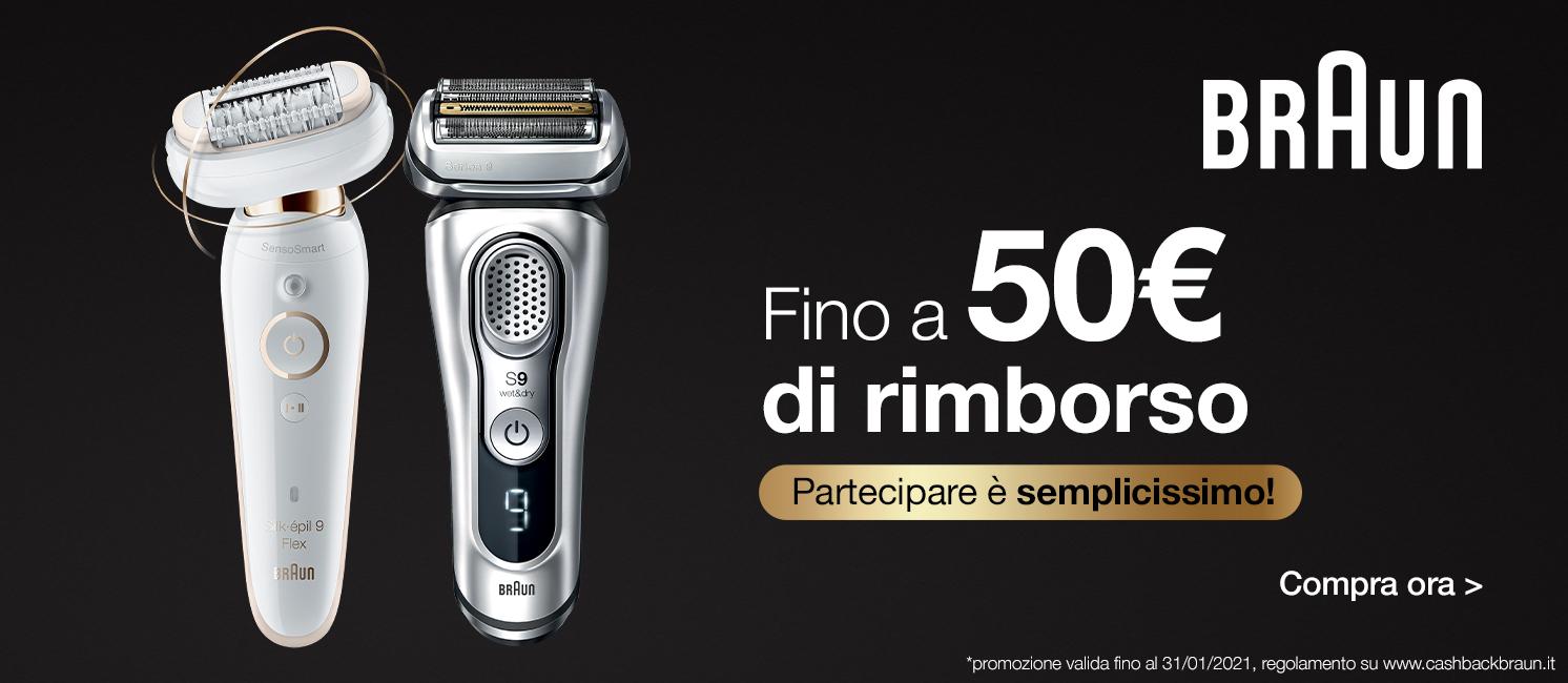 Promo: Scegli Braun: per te fino a 50€ di rimborso