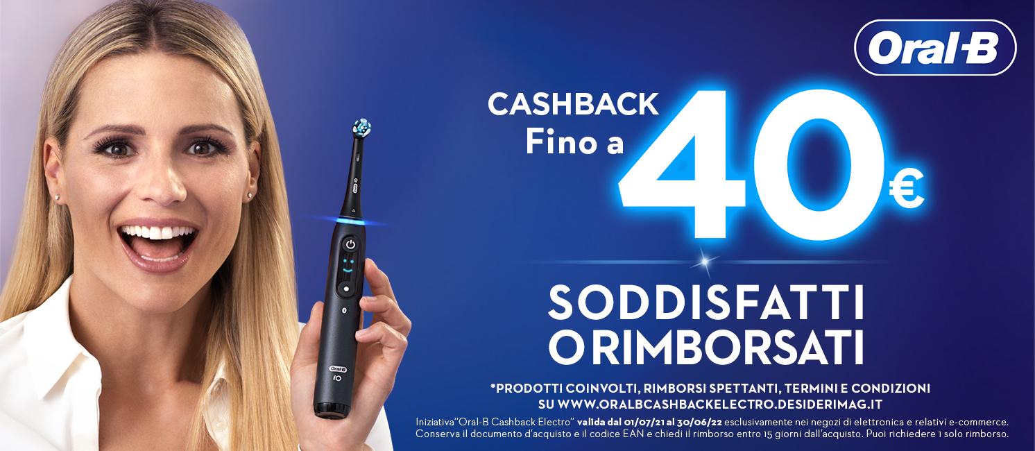 Promo: Scegli Braun Oral-B: per te fino a 40€ di rimborso