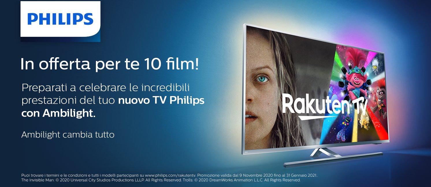 Promo: Philips TV: per te 10 film in offerta!