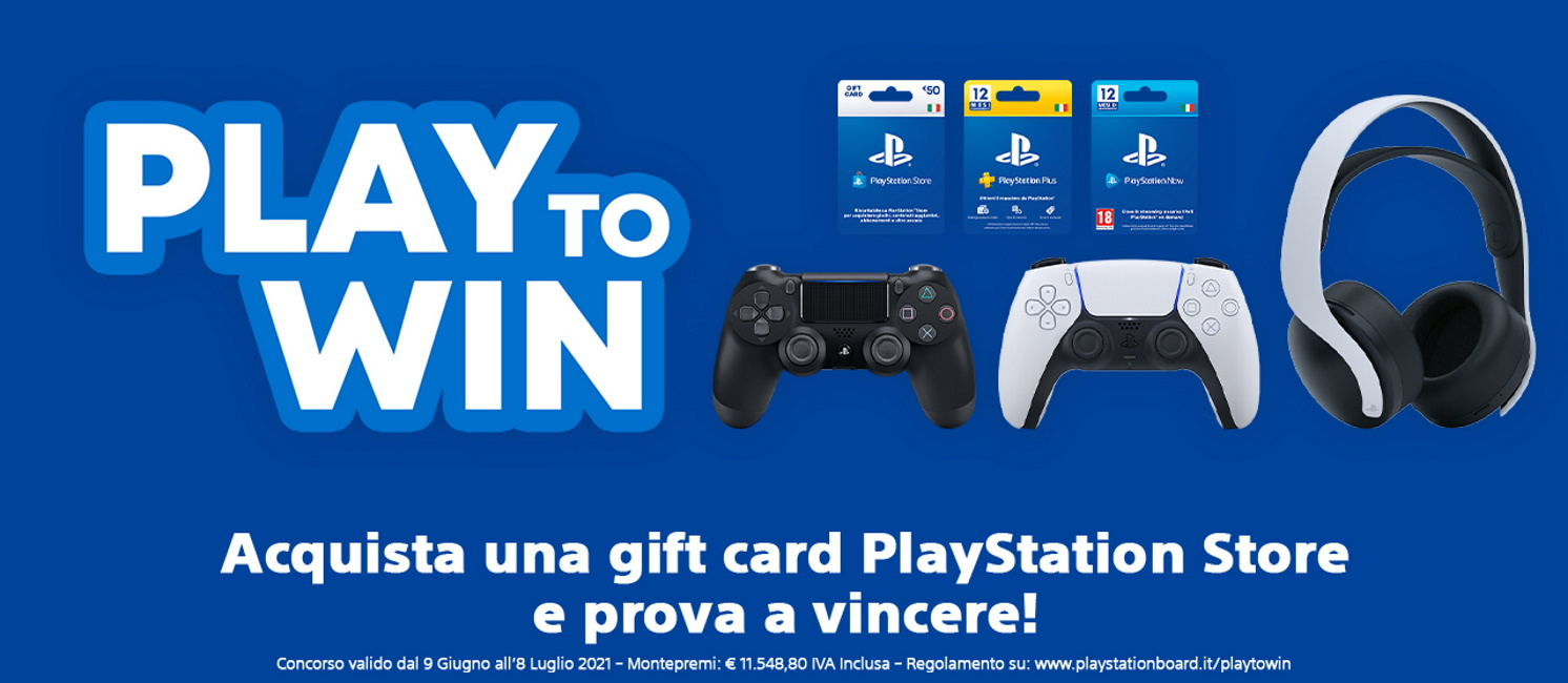 Promo: Gift Card Sony Playstation: Play to win!