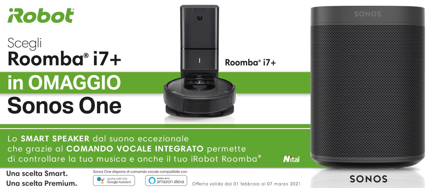 Promo: Scegli Roomba i7+: in Omaggio Sonos One