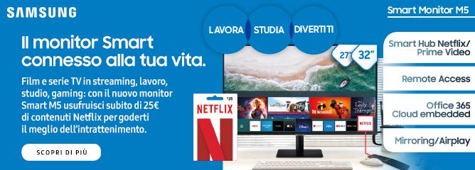 Promo: Samsung: il monitor Smart connesso alla tua vita