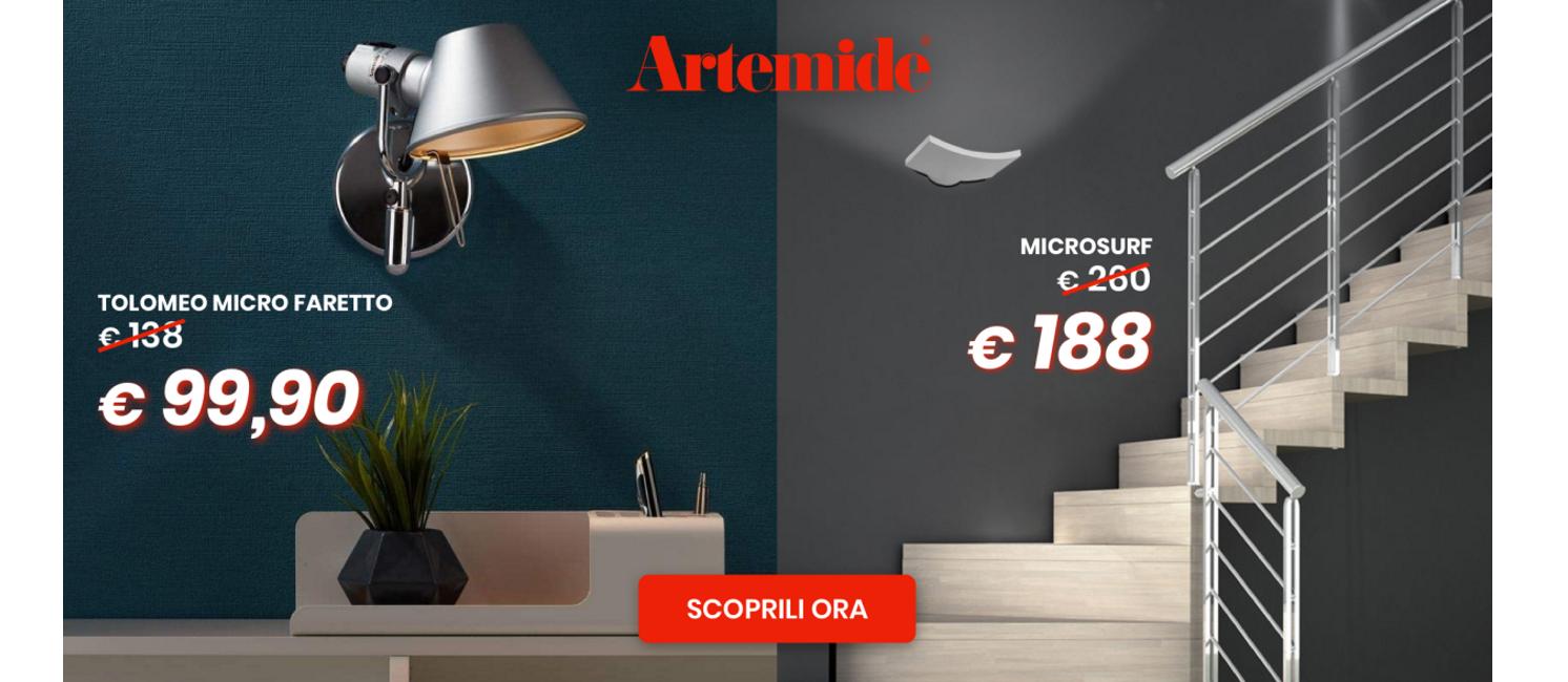 Promo: Artemide - Microsurf & Tolomeo Faretto