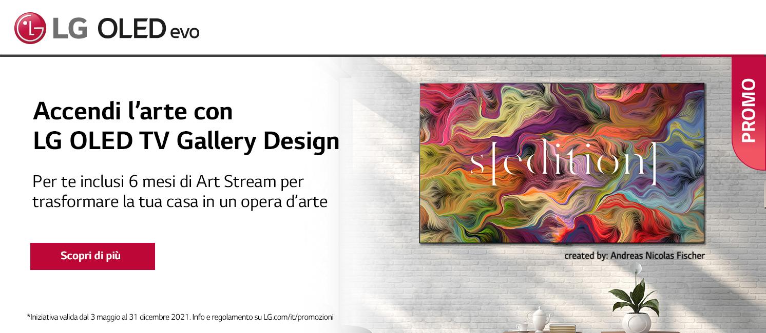 Promo: Accendi l'arte  con LG OLED TV Gallery Design