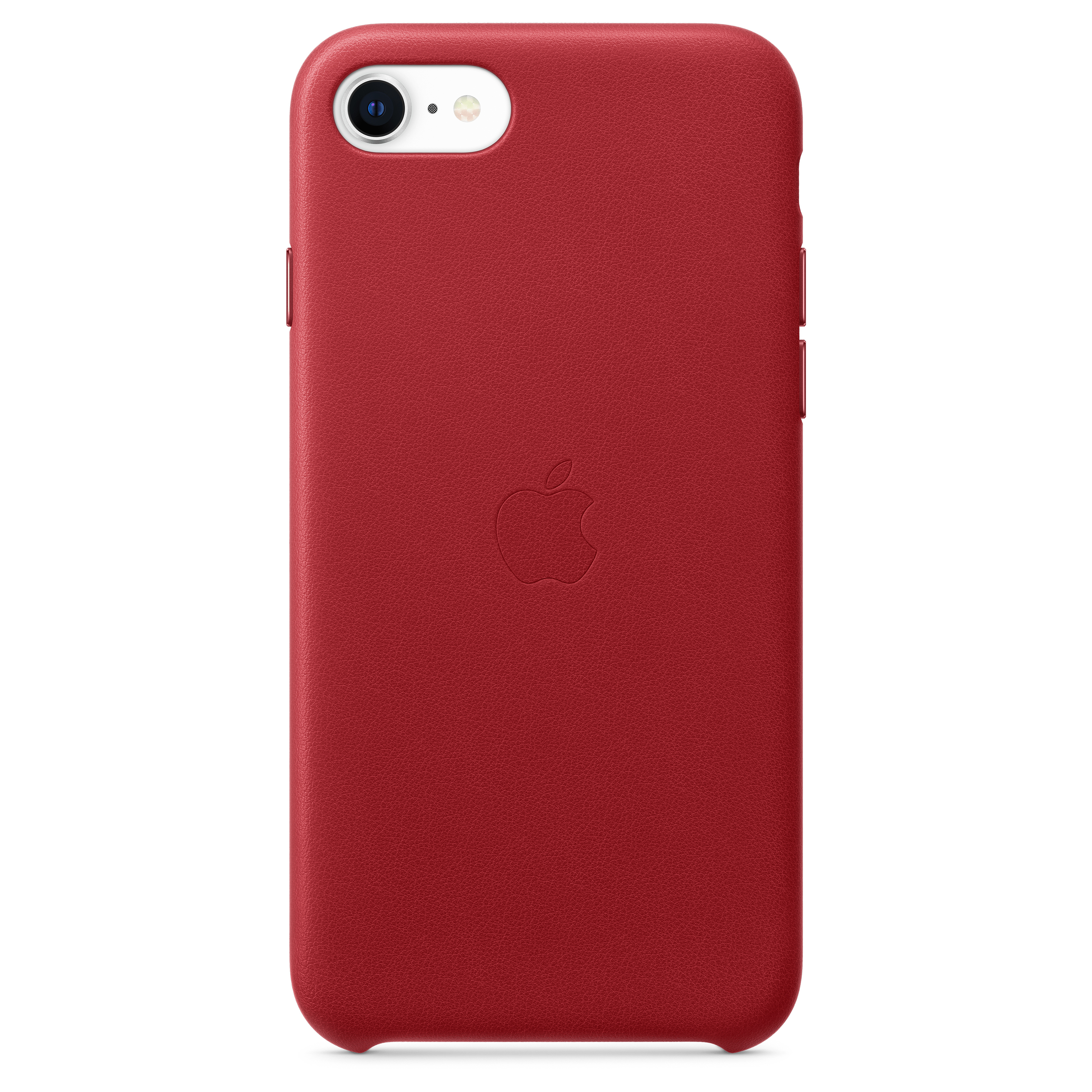 Apple - iPhone SE 2020 Leather Case - Red