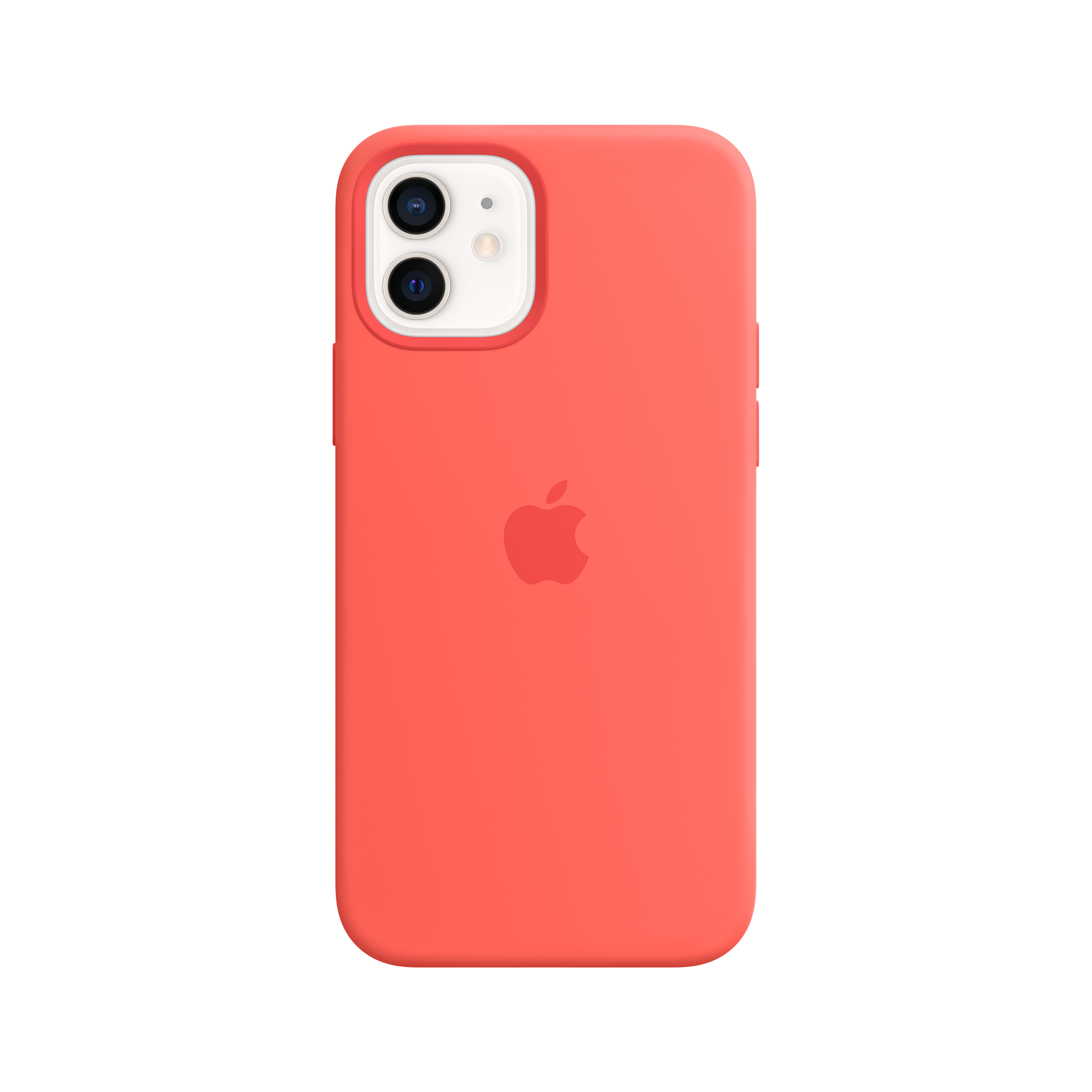 Apple - iPhone 12 | 12 Pro Silicone Case with MagSafe - Pink Citrus Mhl03zm/a