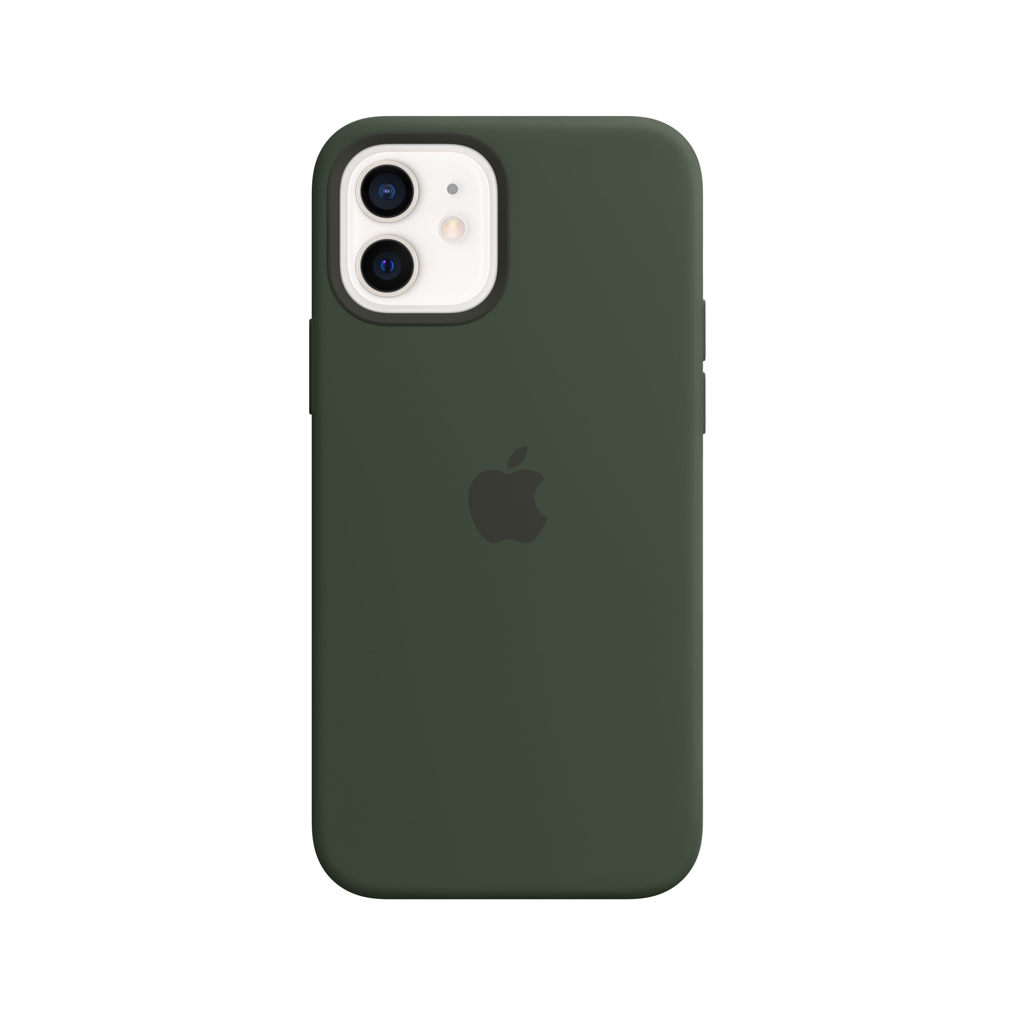 Apple - iPhone 12 | 12 Pro Silicone Case with MagSafe - Cypress Green Mhl33zm/a
