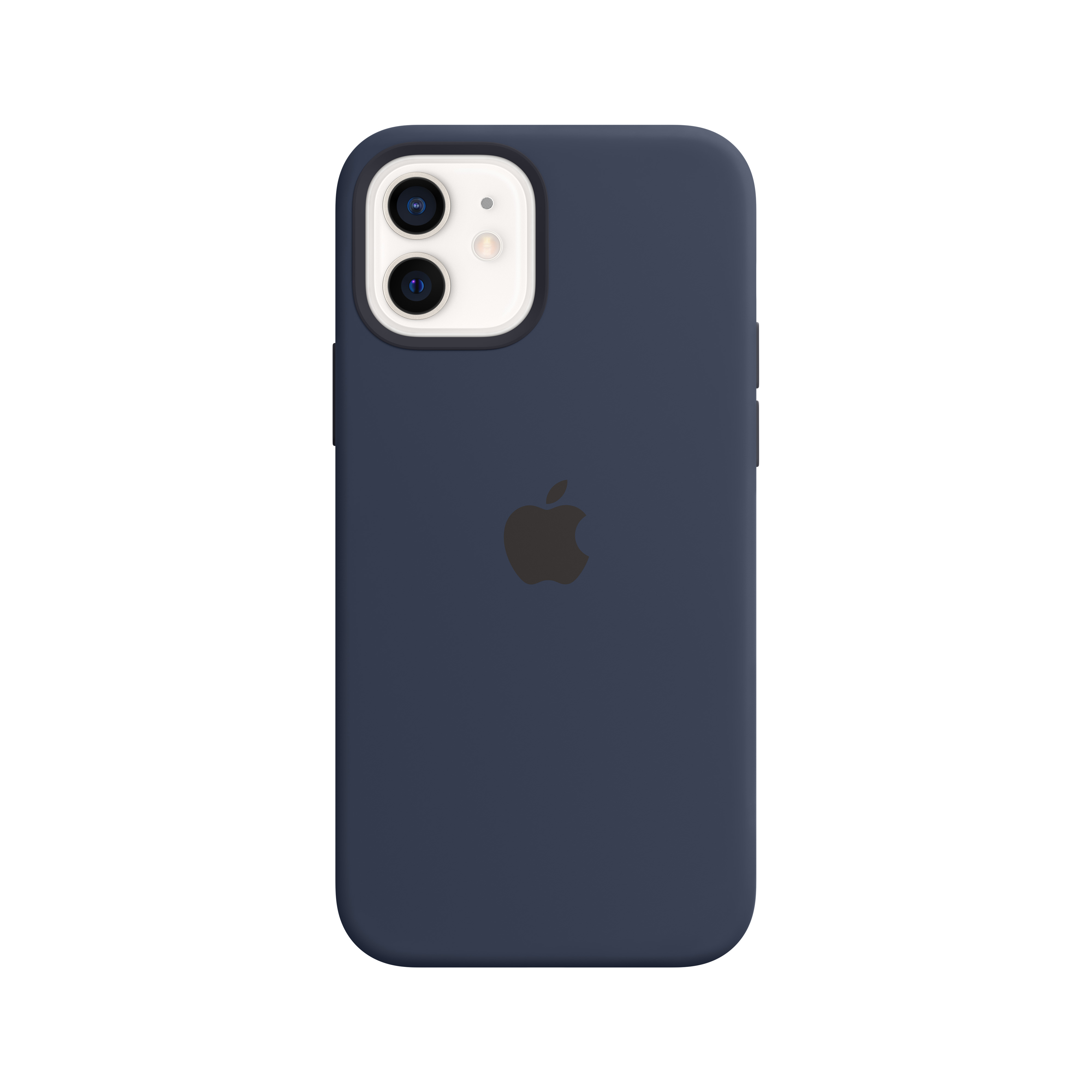 Apple - iPhone 12 | 12 Pro Silicone Case with MagSafe - Deep Navy Mhl43zm/a