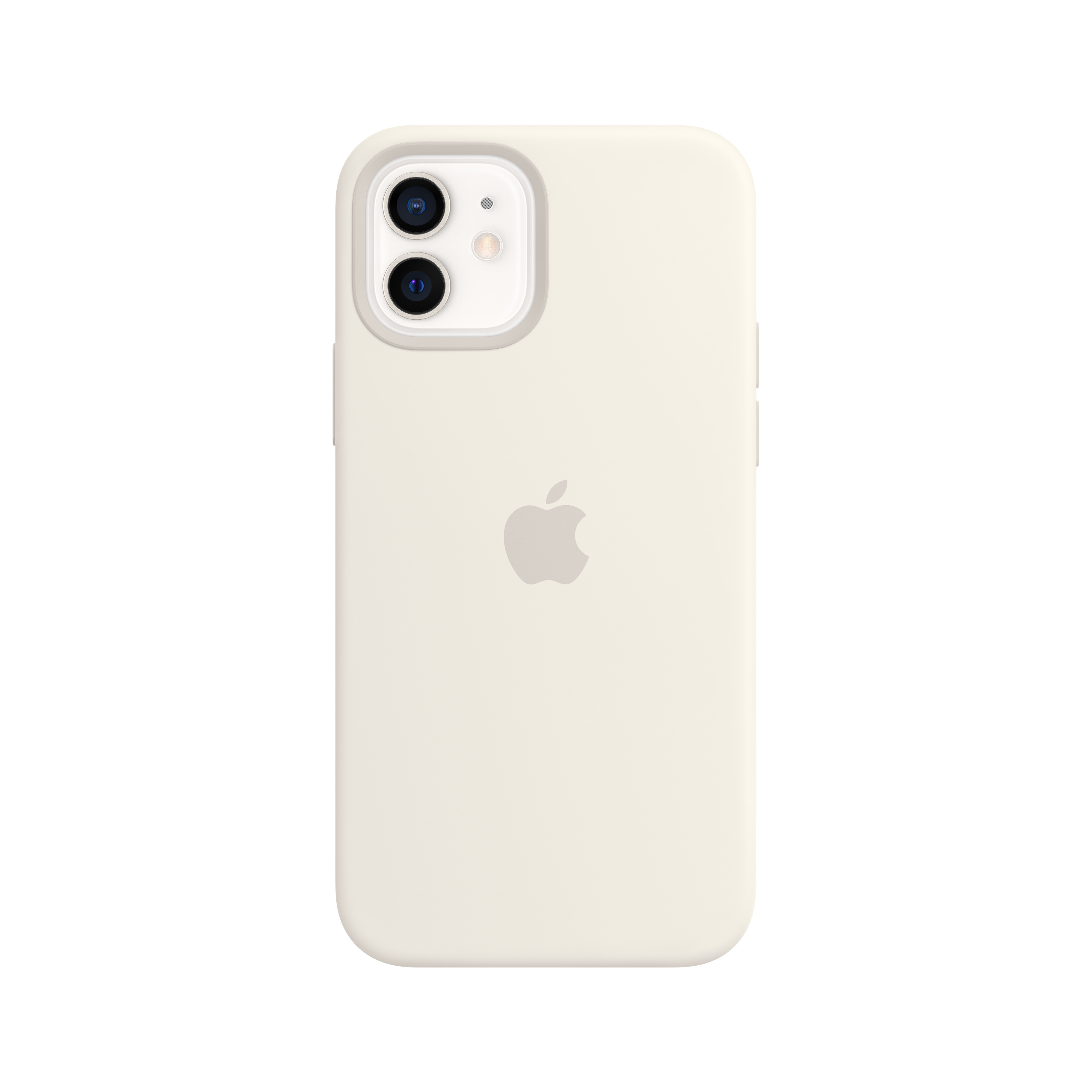 Apple - iPhone 12 | 12 Pro Silicone Case with MagSafe - White Mhl53zm/a