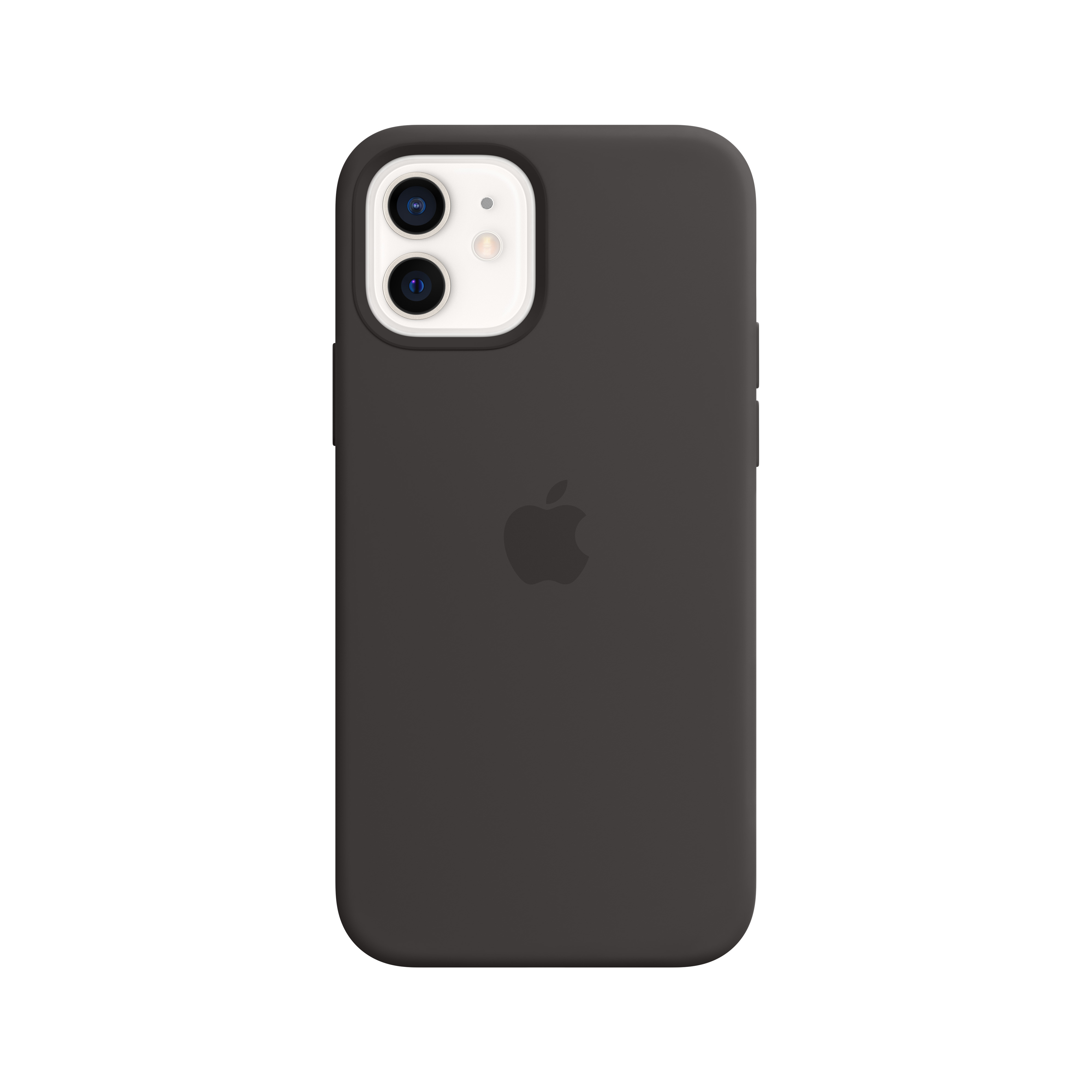 Apple - iPhone 12 | 12 Pro Silicone Case with MagSafe - Black Mhl73zm/a