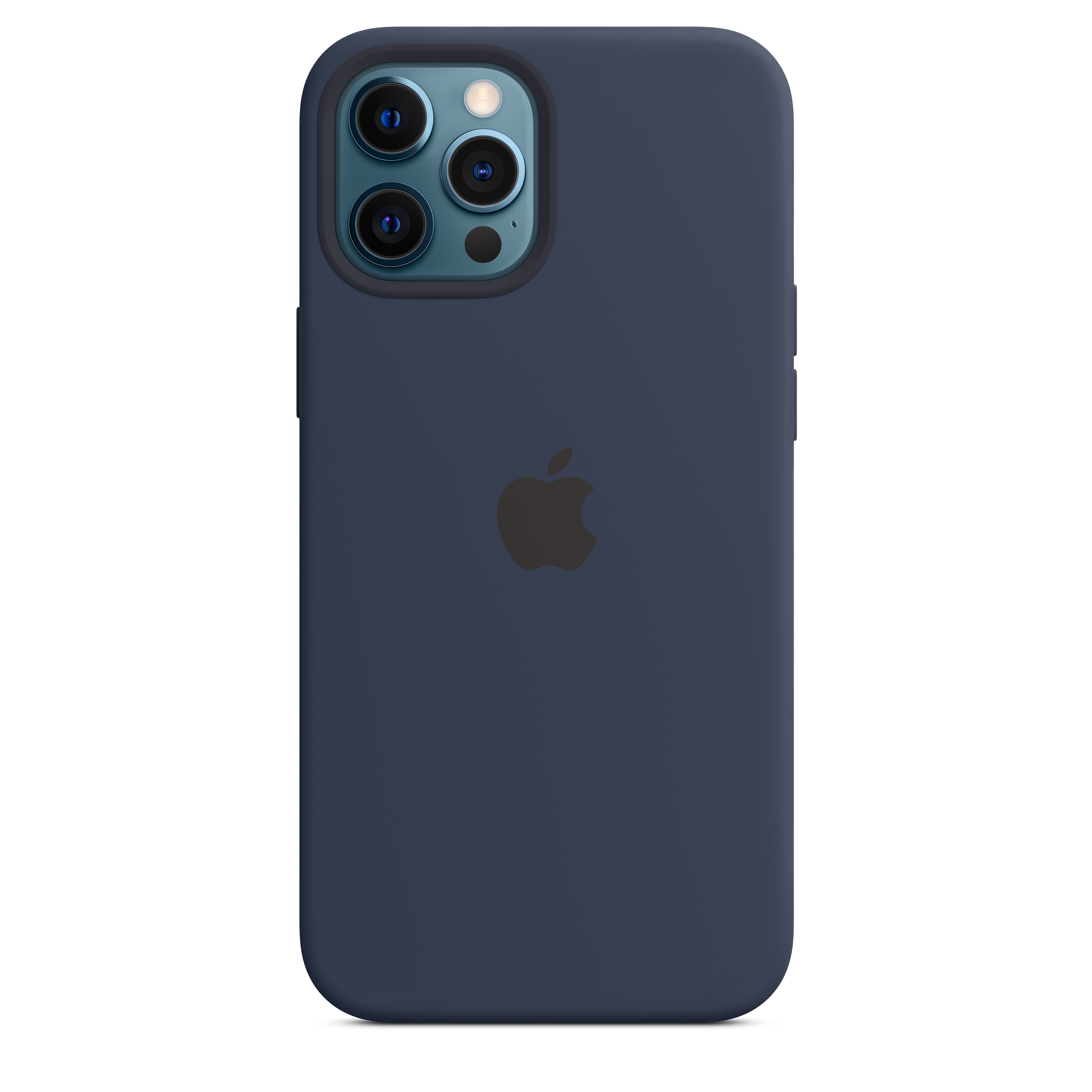 Apple - iPhone 12 Pro Max Silicone Case with MagSafe - Deep Navy Mhld3zm/a