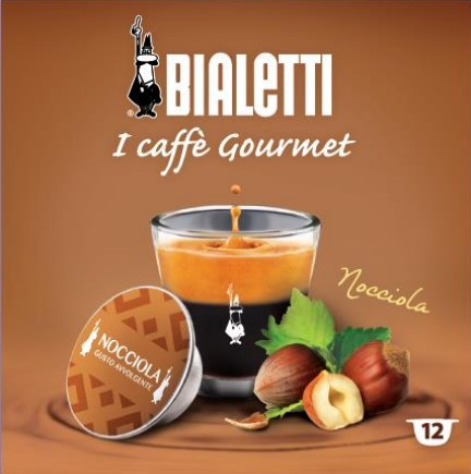 Bialetti 12 capsule caffe' nocciola - 096080222/m