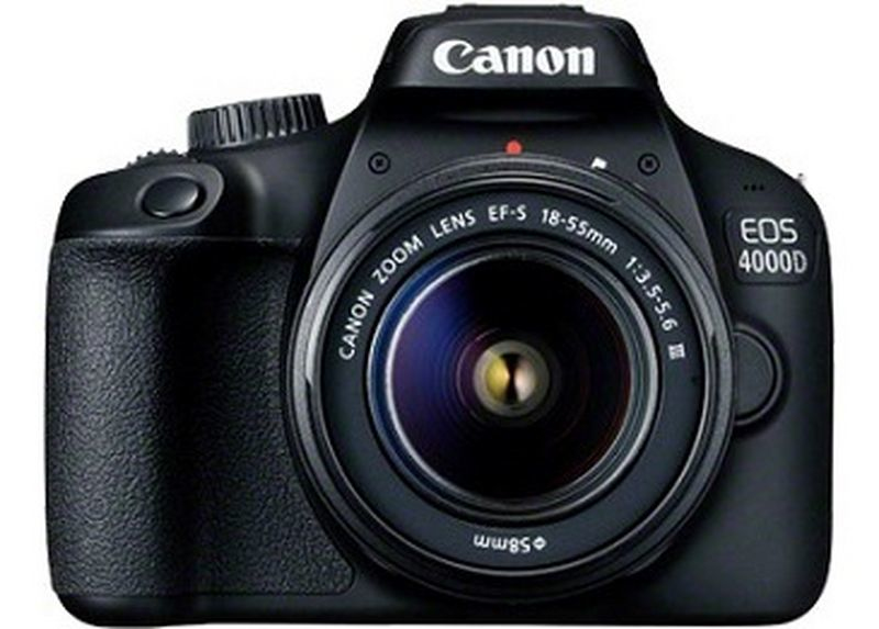 Canon Fotocamera reflex - Eos 4000d + Ef-s 18-55 Mm Dc Iii Nero